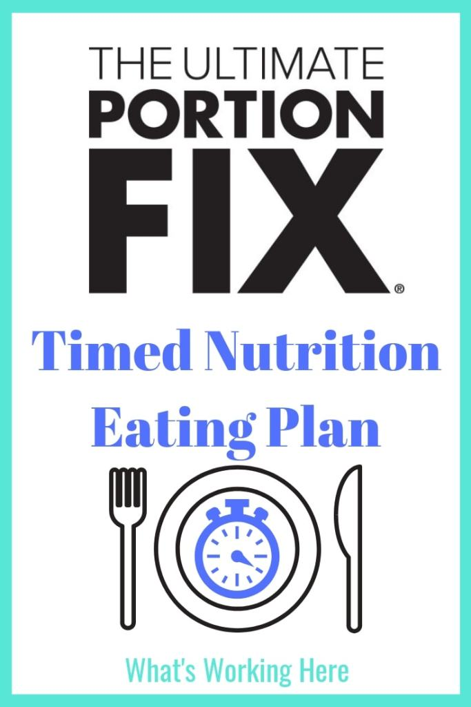 Ultimate Portion Fix Timed Nutrition Eating Plan