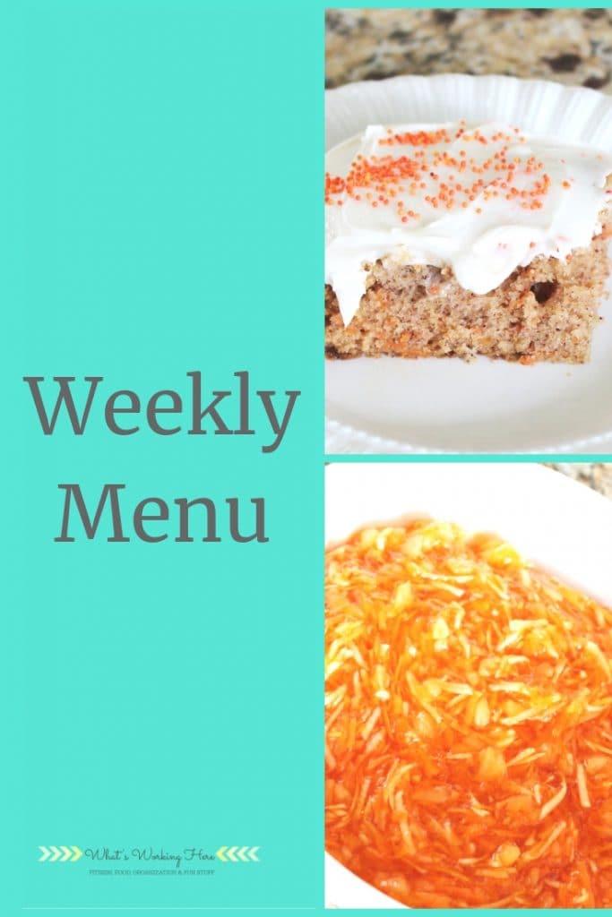 april 21 Weekly Menu - Easter Lunch