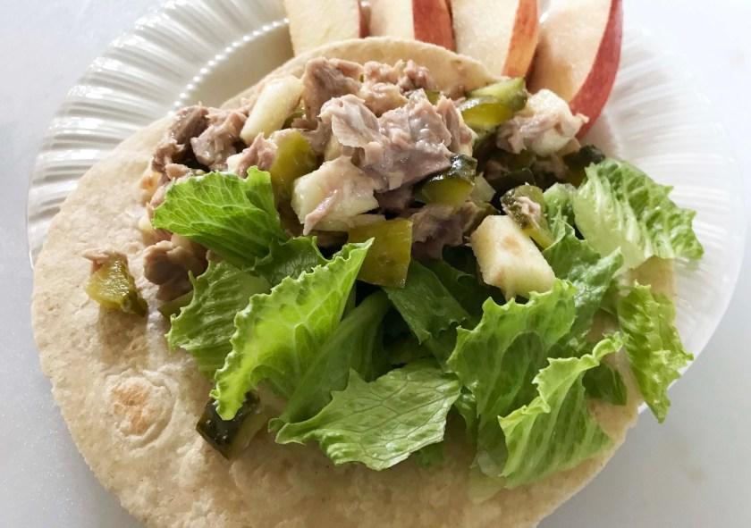 tuna wrap- ultimate portion fix snack ideas