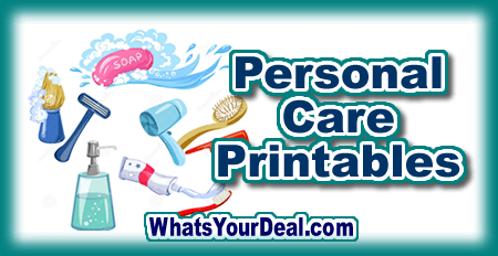 personal care printables