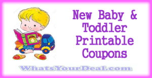 Baby And Toddler Printable Coupons