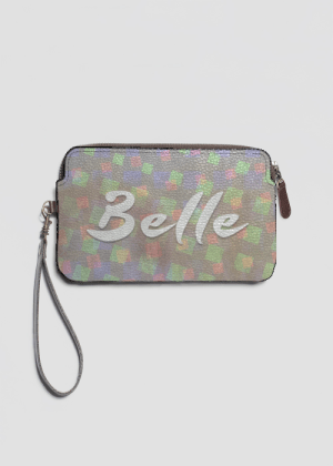 Belle leather clutch by Patricia Griffin