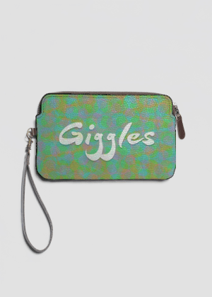 Giggles leather clutch by Patricia Griffin
