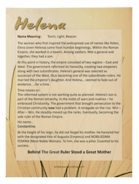 Helena (sample wood poster)