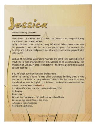 Jessica (sample wood poster)ii