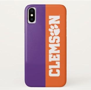 Clemson phone case