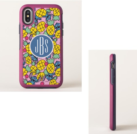 Lilo and Stitch pineapple monogram phone case