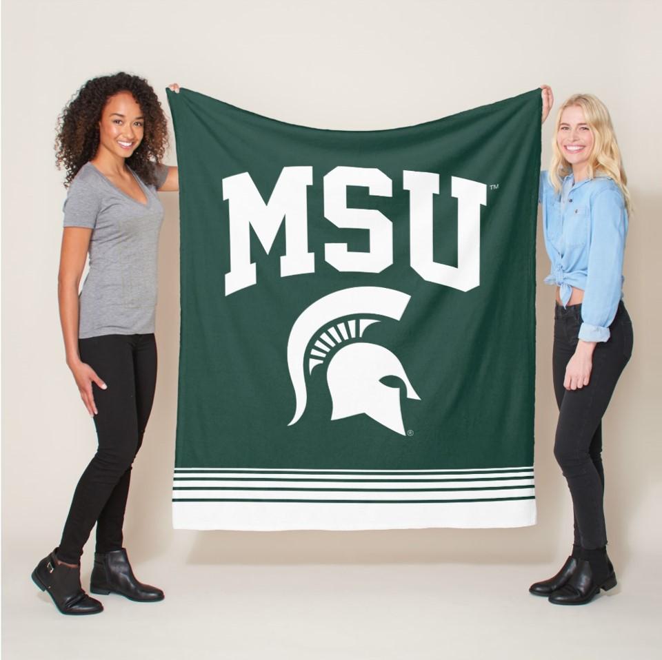 MSU fleece blanket