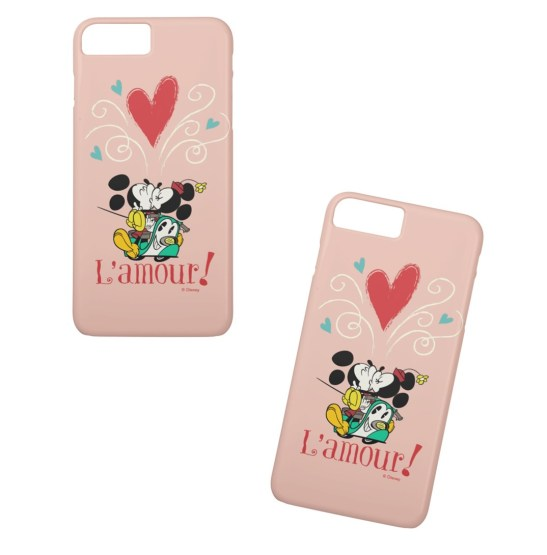 disney mickey and minnie love french phone case