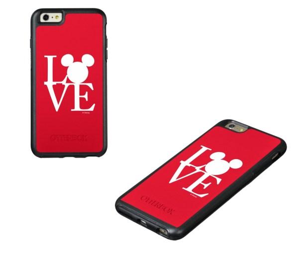 disney mickey love phone case
