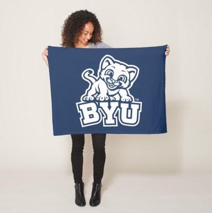 BYU Small Fleece blanket