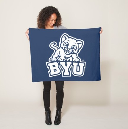BYU Small Fleece blanket