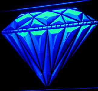 Diamond neon sign LED