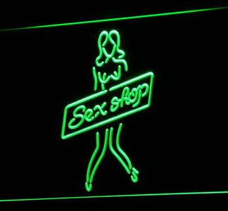 Sex Shop Girl neon sign LED