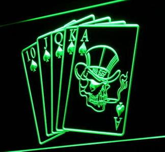 Poker Cards neon sign LED