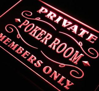Private Poker Room neon sign LED