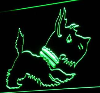 Scottish Terrier neon sign LED