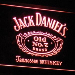 Jack Daniel's neon light sign