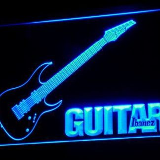 Guitar Ibanez neon sign LED