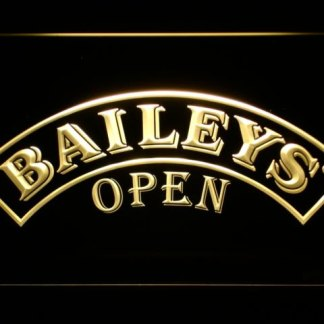 Baileys Open neon sign LED