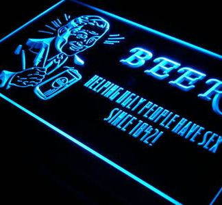 Beer - Helping Ugly People Have Sex neon sign LED