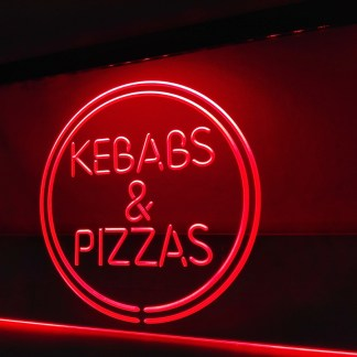 Kebabs & Pizzas neon sign LED