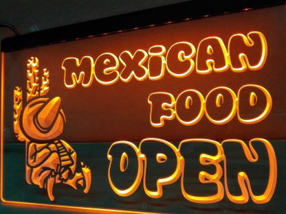 Mexican Food Open neon sign LED