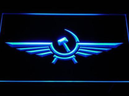 Aeroflot neon sign LED