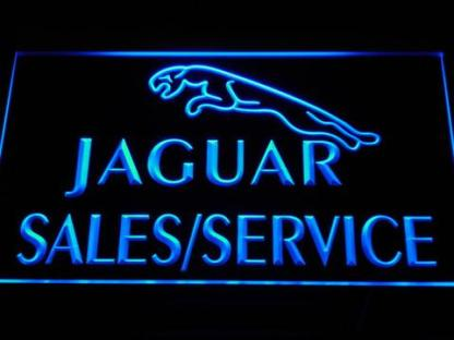 Jaguar Sales and Service neon sign LED