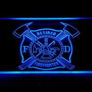 Fire Department Retired Fire Fighter neon sign LED