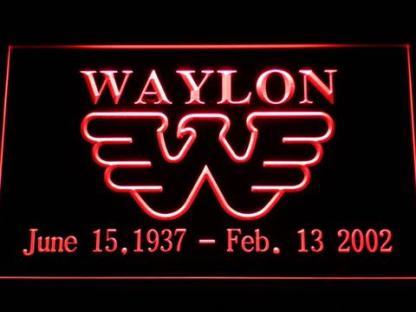 Waylon Jennings neon sign LED