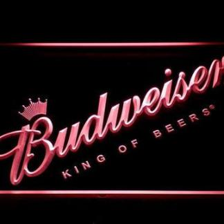 Budweiser King of Beers Slanted neon sign LED