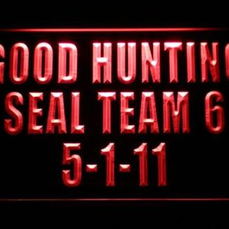 US Navy SEAL Team 6 5-1-11 neon sign LED