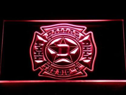 Fire Department Dallas neon sign LED