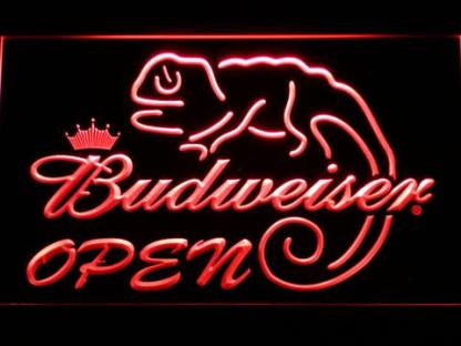 Budweiser Lizard Open neon sign LED