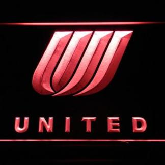 United Airlines Tulip Logo neon sign LED