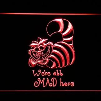 Alice in Wonderland Cheshire Cat We're All Mad Here neon sign LED