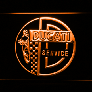 Ducati Service Center neon sign LED