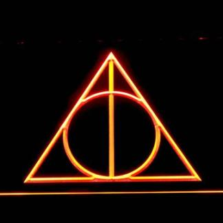 Harry Potter Deathly Hallows Logo neon sign LED