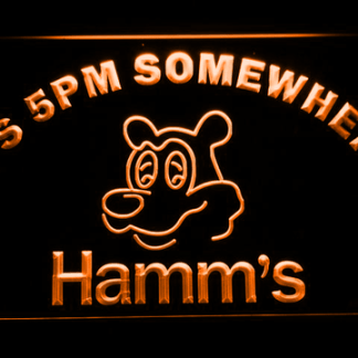 Hamm's It's 5pm Somewhere neon sign LED