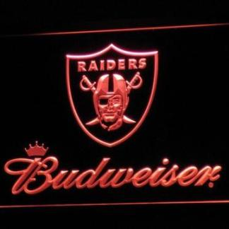 Oakland Raiders Budweiser neon sign LED