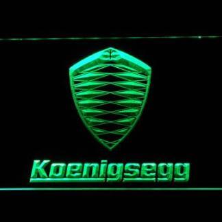 Koenigsegg neon sign LED