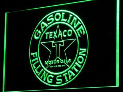 Texaco Gasoline Filling Station neon sign LED