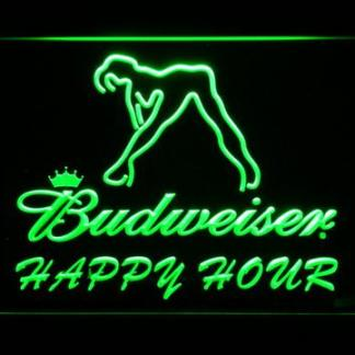 Budweiser Woman's Silhouette Happy Hour neon sign LED