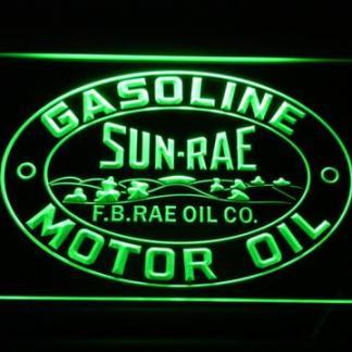 Sunrae Gasoline & Motor Oil neon sign LED