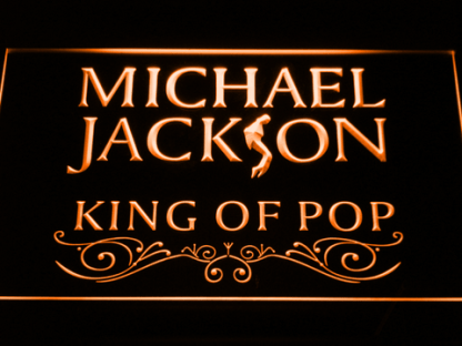 Michael Jackson King of Pop neon sign LED