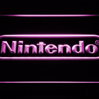 Nintendo neon sign LED