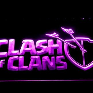 Clash of Clans neon sign LED