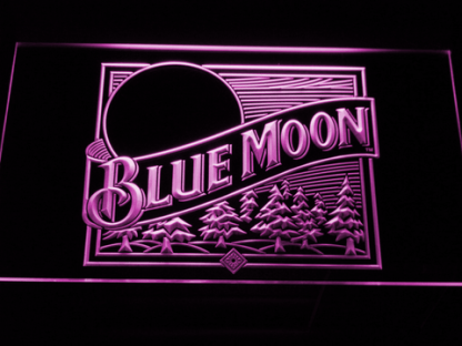 Blue Moon Old Logo neon sign LED