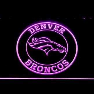 Denver Broncos Circle Logo neon sign LED